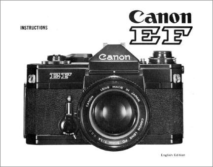 Instruction Manual for Canon FT Camera
