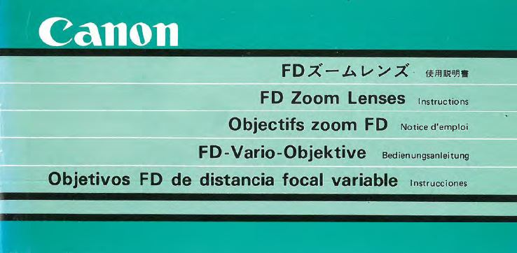 Canon FD Zoom Lenses