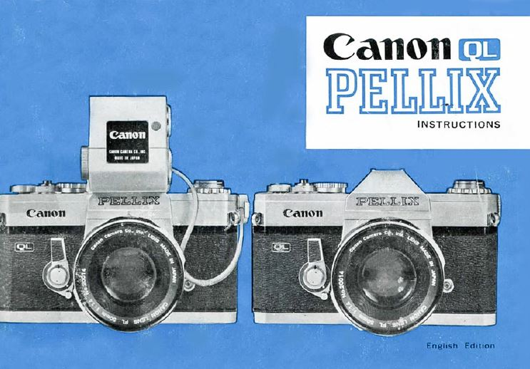 Manual for Canon F-1 Camera