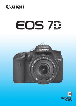 Instruction Manual for Canon 7D
