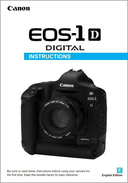 Instruction Manual for Canon 1D