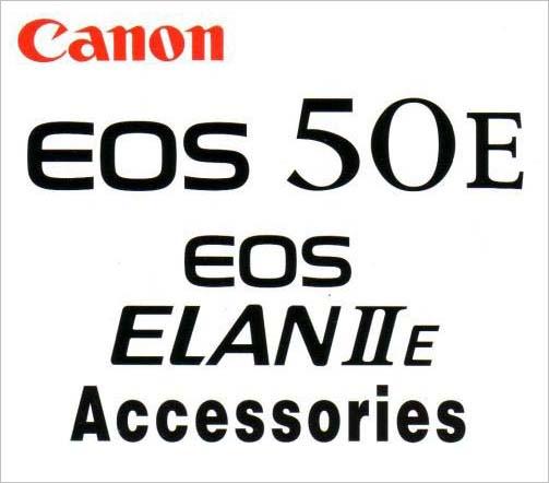 Instruction Manual for Canon 50E / Elan IIE Camera