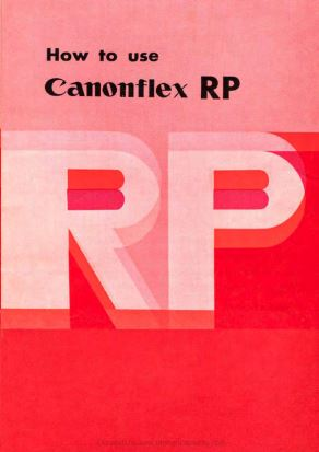 Manual for Canonflex RP