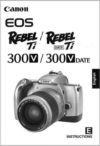 Instruction Manual for Canon EOS Elan Camera