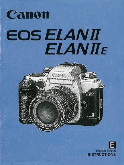 Canon EOS Elan Instruction Manual