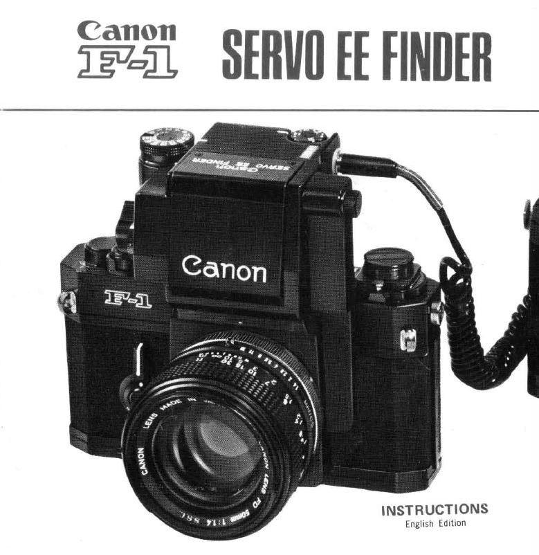 Canon Servo EE Finder User Manual