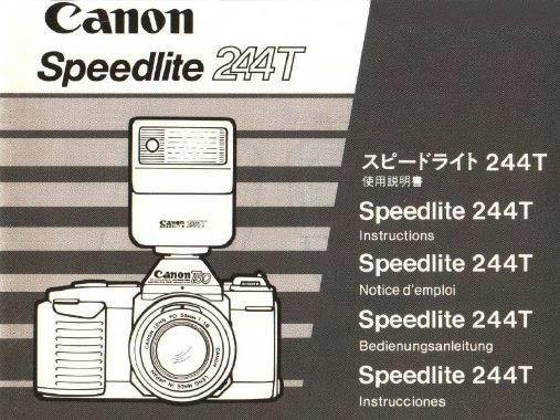 Instruction Manual for Canon Speedlite 244T