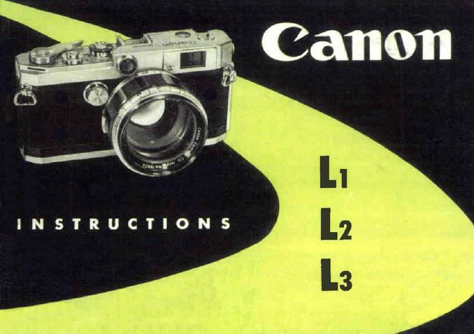 Canon User Manuals for L1, L2 and L3
