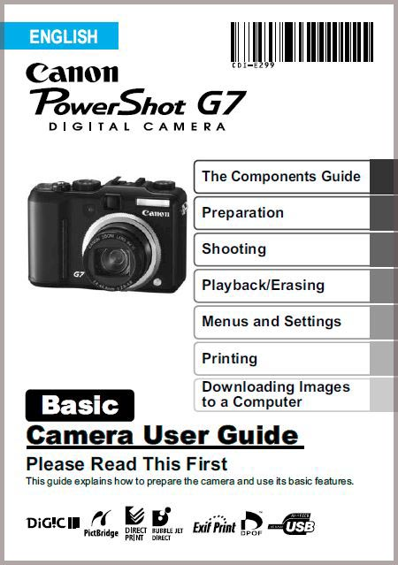 Instruction Manual for Canon G7