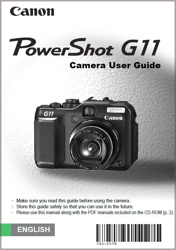 Instruction Manual for Canon G11