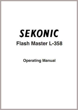 Sekonic L-358 Manual