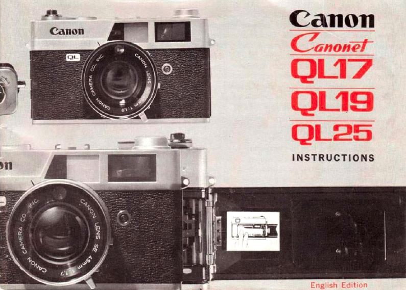 Instruction Manual for Canon Canonet 28