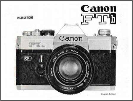 Instruction Manual for Canon FTb-n Camera