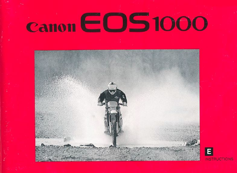 Instruction Manual for Canon EOS 1000
