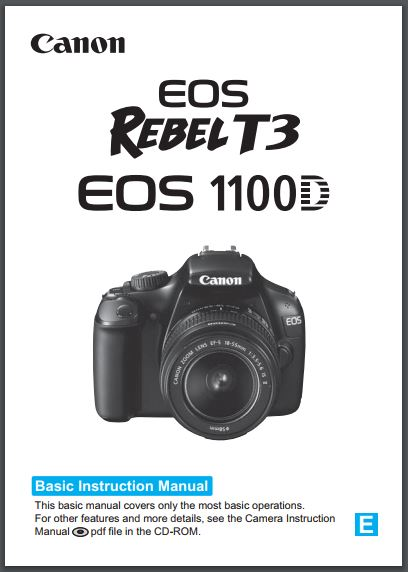 Instruction Manual for Canon EOS 1100D Camera