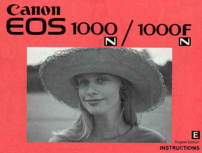 Canon EOS 1000 FN Manual