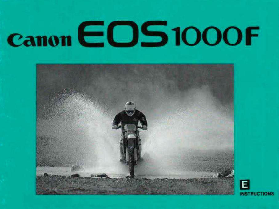 Canon EOS 1000F User Manual