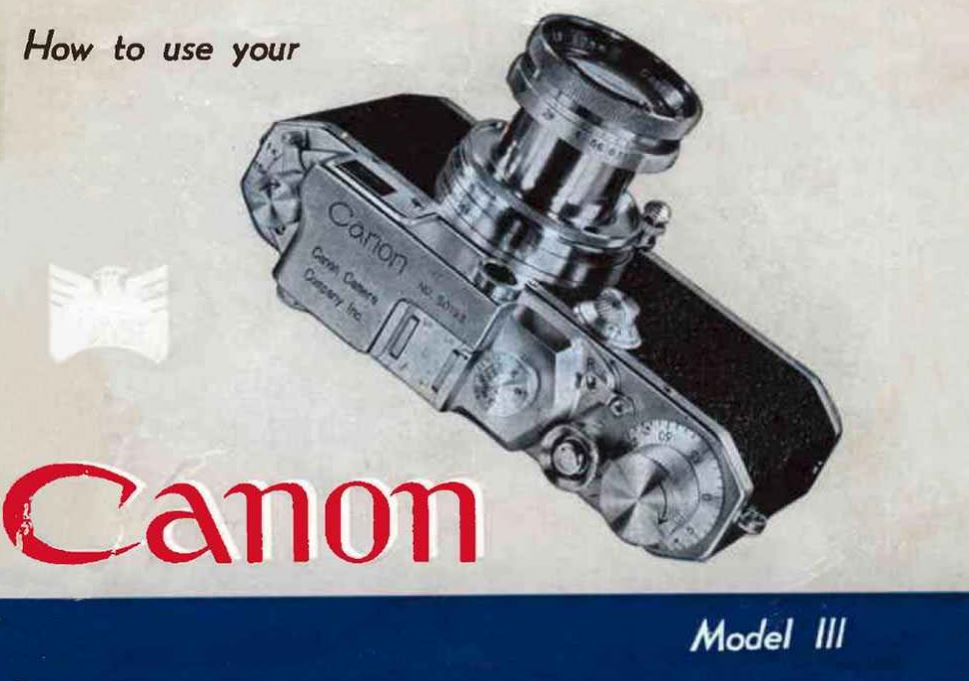 Canon Model III Instruction Manual
