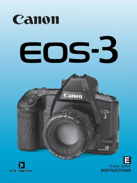 Instruction Manual for Canon EOS -3