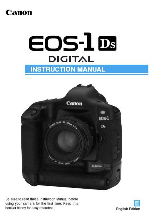 Canon EOS 1Ds User Manual
