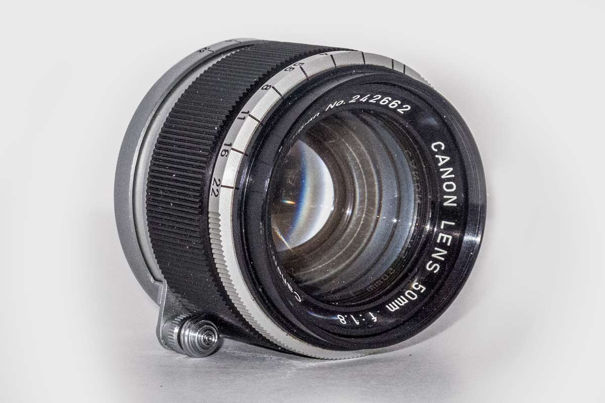 Canon M39 50mm f/1.8 lens