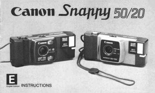 Manual for Canon AF35M Camera