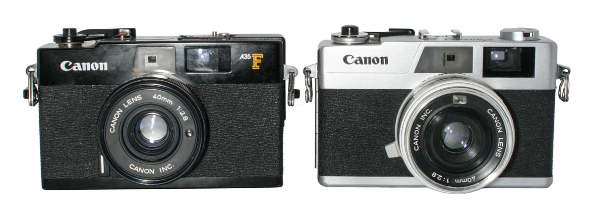 A35 F and Canonet 28