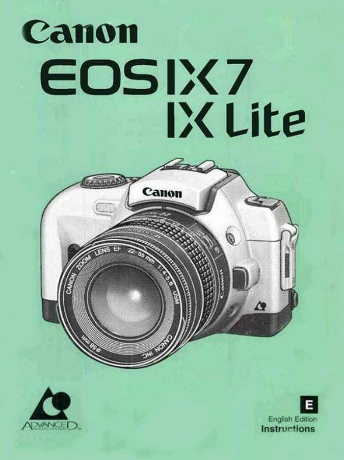 Instruction Manual for Canon EOS IX7 Camera