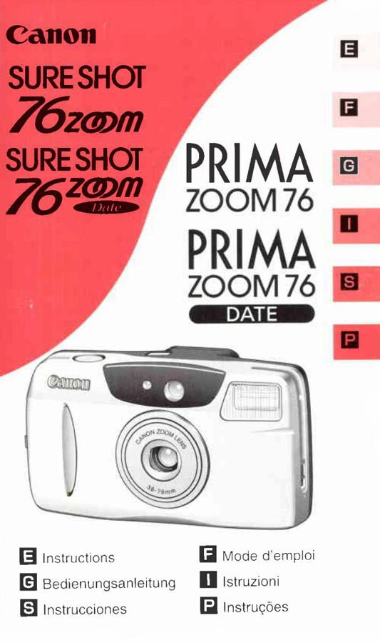 Canon Sure Shot 76 Zoom User Manual