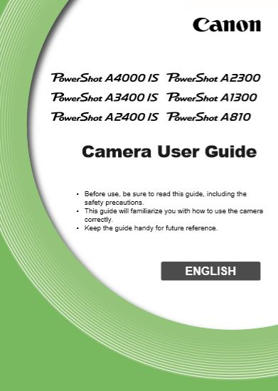 Instruction Manual for Powershot A3400