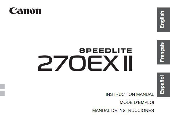 Canon Speedlite 270EX II User Manual