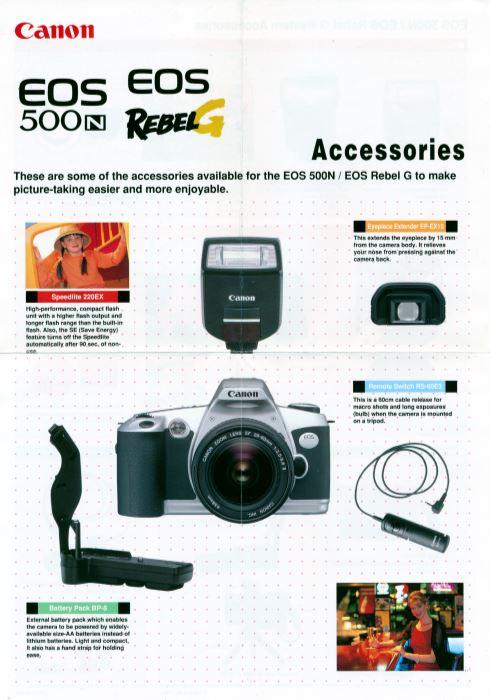 Canon Rebel G Accessories Brochure