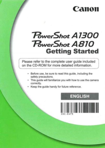 PowerShot A1300 User Manual