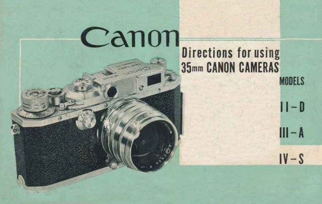 Canon Model IIB, IIIA and IVS User Manual