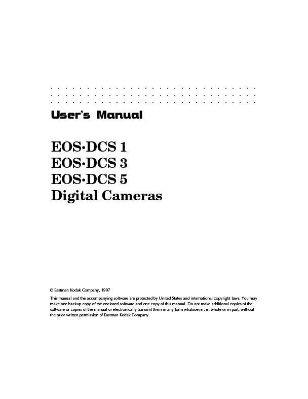 EOS DCS 1, 3, 5 Manual
