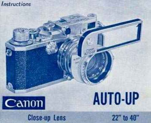 Canon Auto Up User Manual