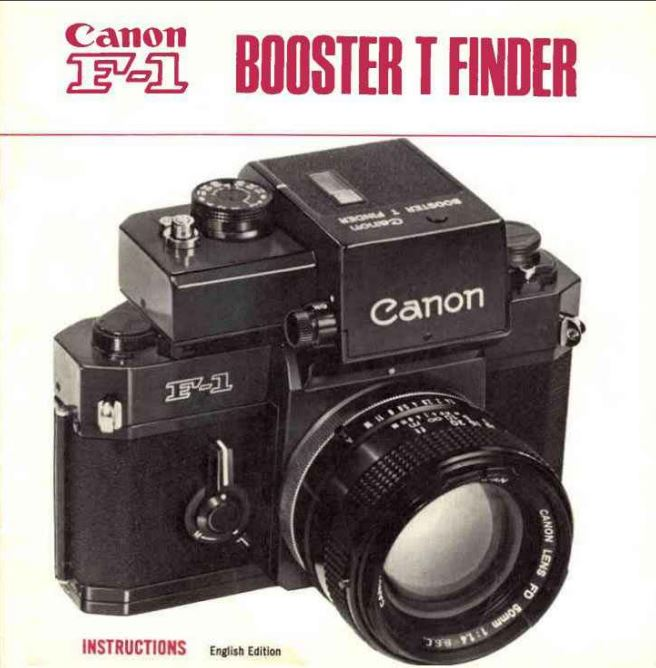 Canon Booster T Finder Instructions