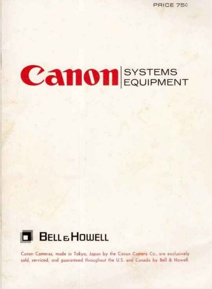 Canon System Equipment Catalogue - Mar 1969