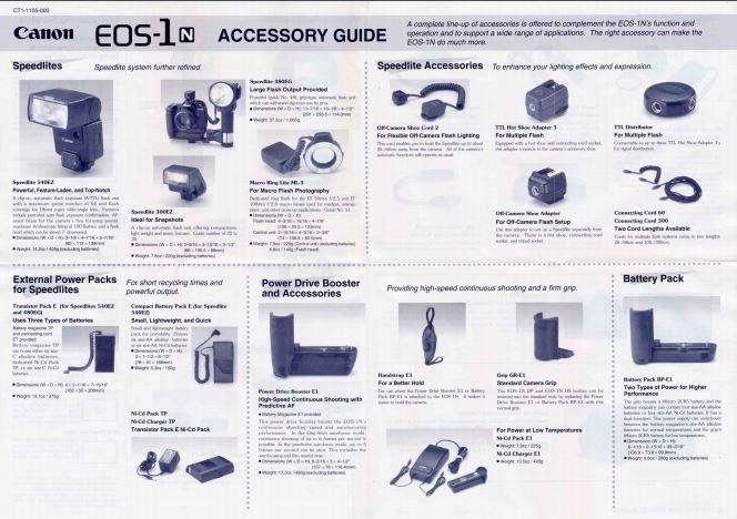 EOS 1N Accessories Brochure