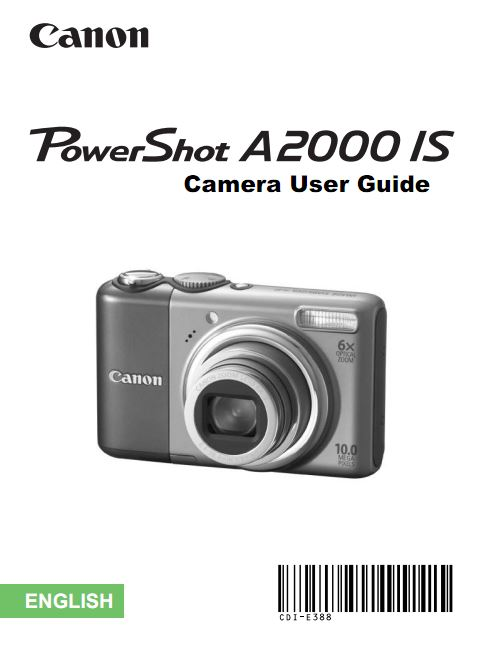 PowerShot A2000 User Manual
