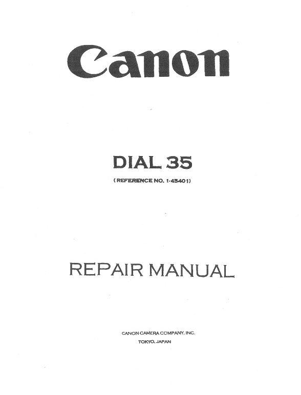 Dial 35 Repair Manual