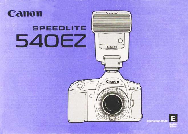 User Manual for Speedlite 580EX II