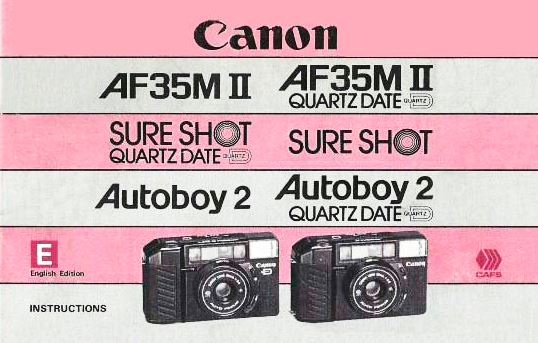 Manual for Canon AF35M II Camera