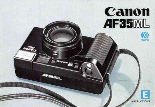 Canon Sure Shot AF35ML User Manual