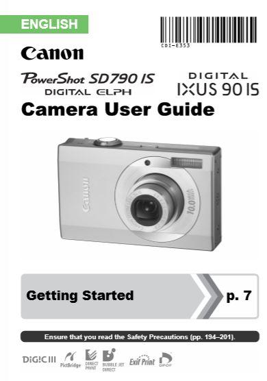 Powershot SD790 User Manual