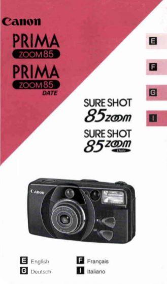 Sure Shot 85 Zoom Manual