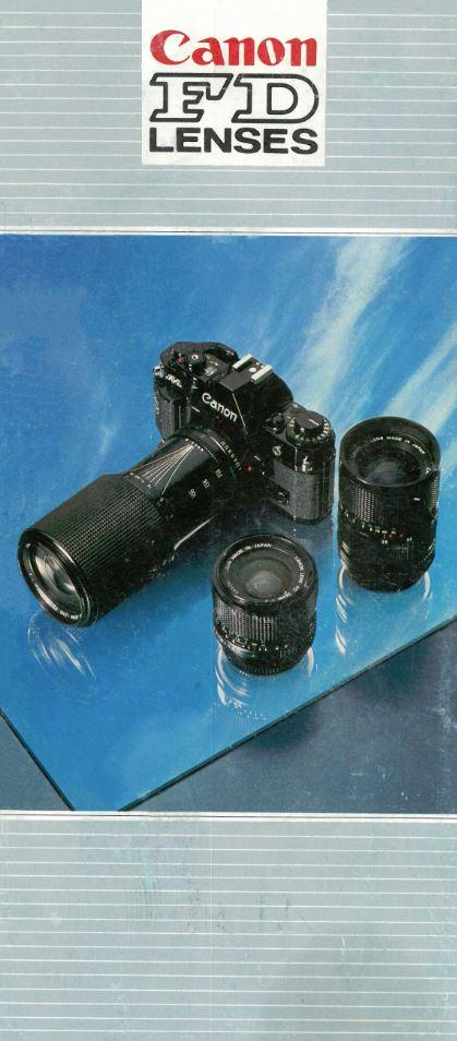 Canon FDn Lens Brochure