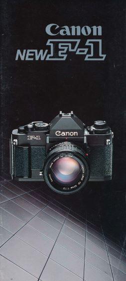 Canon New F-1 Brochure