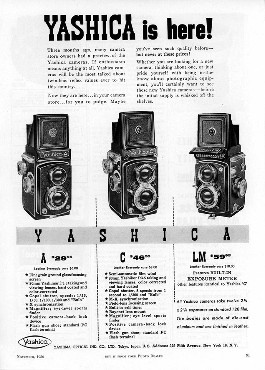 Yashica Advertisement