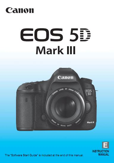 Instruction Manual for Canon 5D MkIII